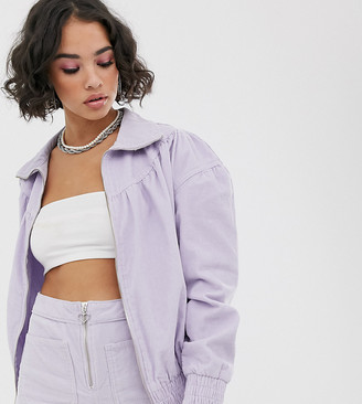 See You Never baby cord bomber jacket