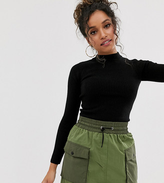 Brave Soul Petite rigby high neck sweater