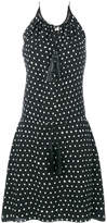 Saint Laurent polka dot tassel dress