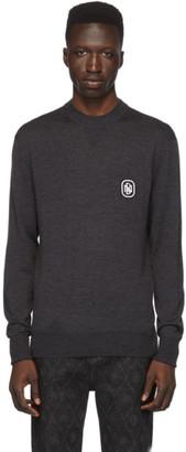Neil Barrett Grey Cashmere Travel Sweater