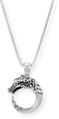 John Hardy Legends Naga Silver Dragon Pendant Necklace