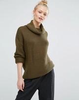 Monki Roll Neck Ballon Sleeve Sweater