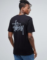 Stussy T-shirt With Logo Back Print