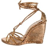 Pierre Hardy Python Lace-Up Wedges w/ Tags