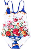 Dolce & Gabbana floral print swimsuit - kids - Nylon/Polyamide/Spandex/Elastane - 6 yrs