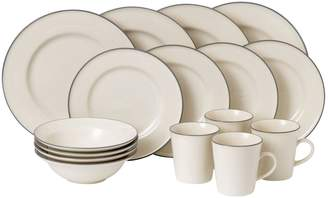 Gordon Ramsay Union Street Cream 16-Piece Stoneware Dining Set