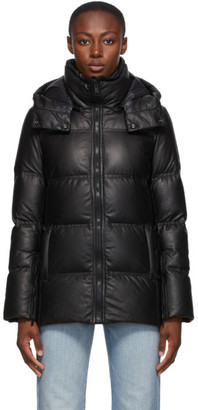 Army by Yves Salomon Yves Salomon - Army Black Down Leather Fitted Jacket