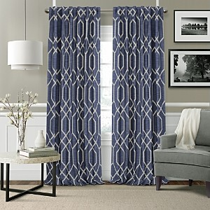 Elrene Home Fashions Devin Textured Geometric Blackout Curtain Panel, 52 x 95