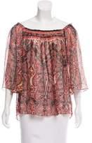 Milly Sheer Silk Top
