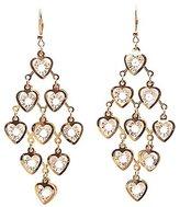 Charlotte Russe Heart Crystal Kite Earrings