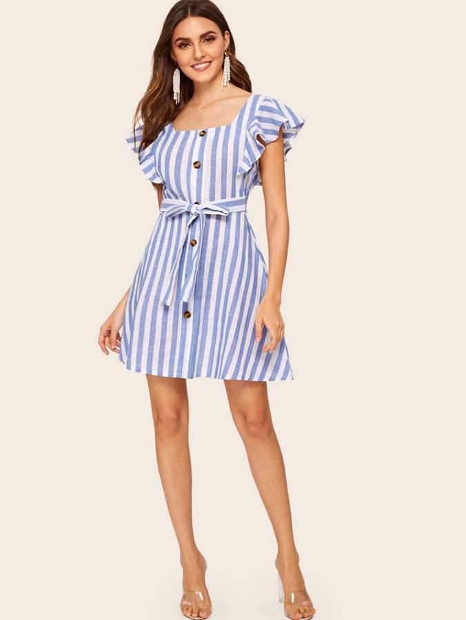 135b7a76e7 Blue Knot Front Dress - ShopStyle
