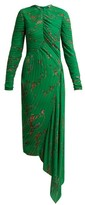 Preen by Thornton Bregazzi Floral-print Pleated Georgette Midi Dress - Womens - Green Multi