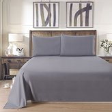 Lullabi Linen 100% Brushed Soft Microfiber Bed Sheet Set, Fitted & Flat Sheet & Pillowcases, Cozy Comfortable, Wrinkle, Fade, Stain Resistant, Deep Pockets (GRAY, QUEEN)