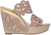 Rene Caovilla 125mm Leather & Swarovski Wedge Sandals