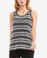 Vince Camuto Sheer Crochet Tank Top