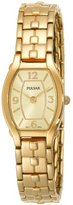 Pulsar Women's PTA384 Dress Champagne Dial Gold-Tone Watch