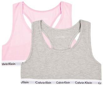 Calvin Klein Kids Modern Cotton Bralette (Pack Of 2)