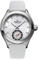 Alpina Women's 'HOROLOGICAL SMART' Quartz Stainless Steel and Rubber Casual Watch, Color:Silver-Toned (Model: AL-285STD3C6)