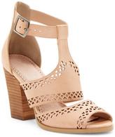 Restricted Wait Up Laser-Cut High Heel Sandal