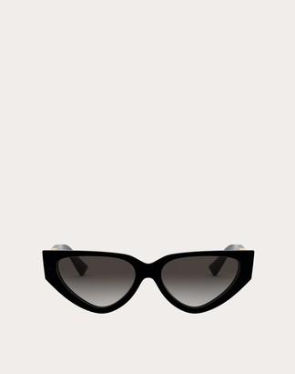 Valentino Acetate Cat-eye Sunglasses With Vlogo Women White Acetate 100% OneSize