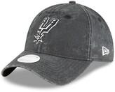 New Era Women's Black San Antonio Spurs Floral Peek 9TWENTY Adjustable Hat