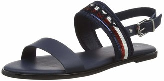 Tommy Hilfiger Women's Tommy Sequins Flat Sandal Closed Toe