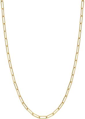 Dru Small Long Link Chain Necklace - Yellow Gold