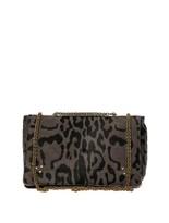 Jerome Dreyfuss Martin leopard calf-hair shoulder bag