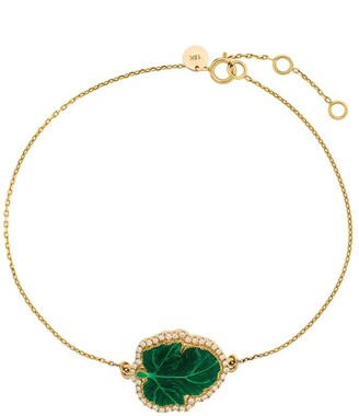 Nevernot 18kt yellow gold Judge diamond and enamel bracelet