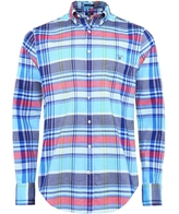 Fitted Plaid Oxford Shirt
