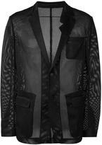 Givenchy mesh effect blazer - men - Polyamide - 48