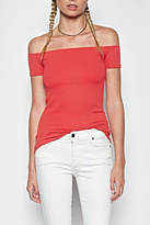 Michael Lauren Coral Open Shoulder