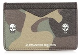 Alexander Mcqueen Camouflage-print Leather Cardholder