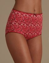 Marks and Spencer 3 Pack Floral & Lace Full Briefs