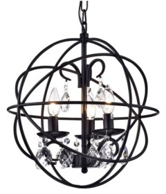 """Home Accessories Tess 17"""" 3-Light Indoor Pendant Lamp with Light Kit"""