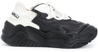 Just Cavalli Low-Top Leather Sneakers