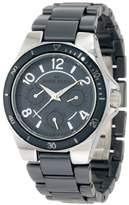 Anne Klein Women's 10/9863GYGY Silver-Tone Multi-Function Grey Ceramic Bracelet Watch