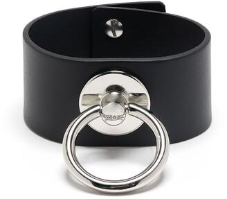 Diesel Ring Detail Wide Bracelet