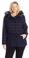 Celebrity Pink Junior's Plus Size Plaid and Solid Wool