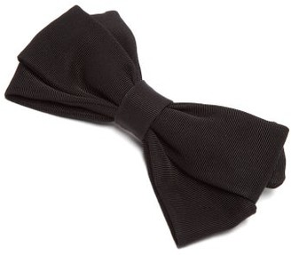 Emilia Wickstead Kennedy Bow-shaped Cotton-faille Hair Clip - Black