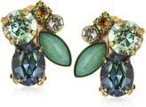 "Sorrelli Crystal Patina"" Cluster Clip-On Earrings"