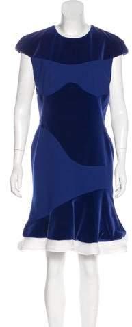 Alexander McQueen Ruffle-Trimmed Velvet Dress