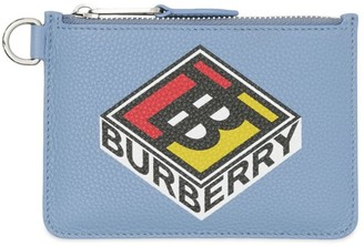 Burberry Logo Graphic Leather Zip Wallet