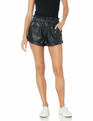 Blank NYC Women's Vegan Leather Shorts Black