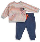 Petit Lem Baby Boys Robotic Long Sleeves Stripe Top and Pants Set