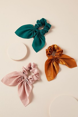 Anthropologie Pack of Three Mini Bow Scrunchies