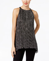 Alfani Petite Metallic Halter Top, Only at Macy's