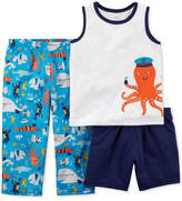 Carter's 3-Pc. Octopus Pajama Set, Toddler Boys