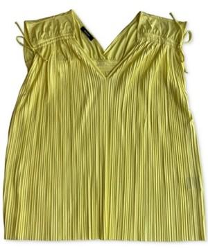Alfani Plus Size Pleated Sleeveless Top, Created for Macy's