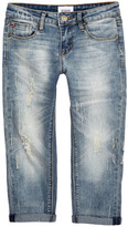Hudson Distressed Cuffed Boyfriend Jean (Big Girls)
